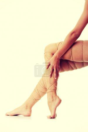 Legs pain concept