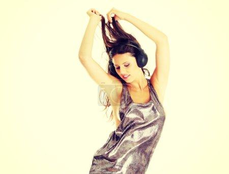 Dancer girl with headphones