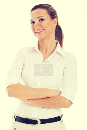 Photo pour Belle jeune étudiante, femme d'affaires - image libre de droit