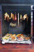 """Постер, картина, фотообои """"собственной домашней коптильни и вкусные блюда из морской рыбы, здоровое питание"""""""