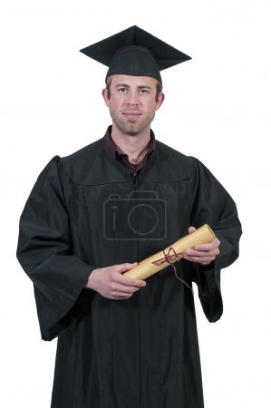 Photo for Young man in his graduation robes - Royalty Free Image