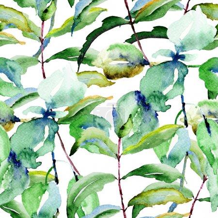 Photo pour Floral pattern sans soudure, illustration aquarelle - image libre de droit