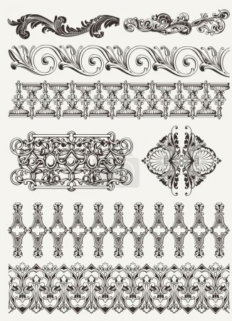 Photo for Antique design elements and page decoration - Royalty Free Image