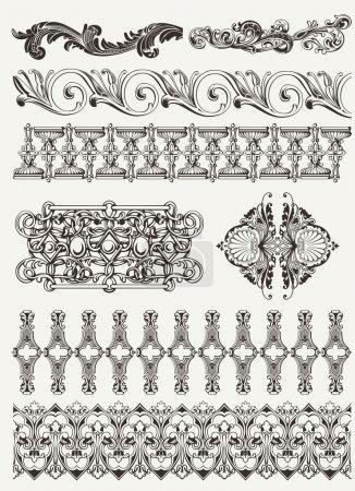 Photo pour Éléments de design antique et décoration de page - image libre de droit