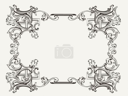 Illustration for Original Renaissance Ornate Frame - Royalty Free Image