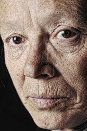Elderly woman, close-up face
