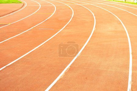athletic track on the stadium