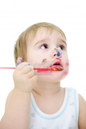 Photo for Messy baby - Royalty Free Image
