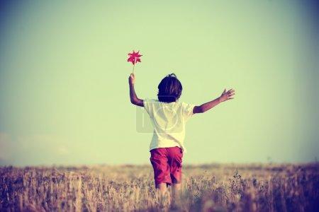 Kid in nature walking
