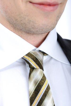Photo pour Costume et cravate sur un homme - image libre de droit