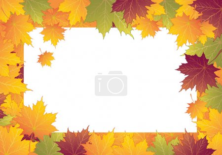 Photo for Autumn frame with maple leaves - Royalty Free Image