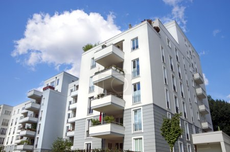 Photo for Modern town houses, apartment buildings in berlin, germany - Royalty Free Image