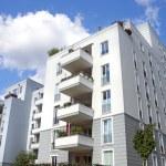 Modern town houses, apartment buildings in berlin,...