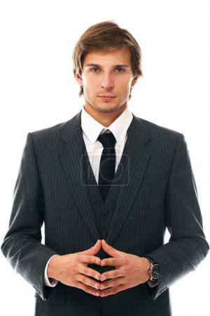 Confident and handsome man in suit portrait