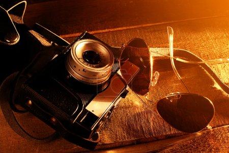 Eyeglasses with retro photocamera