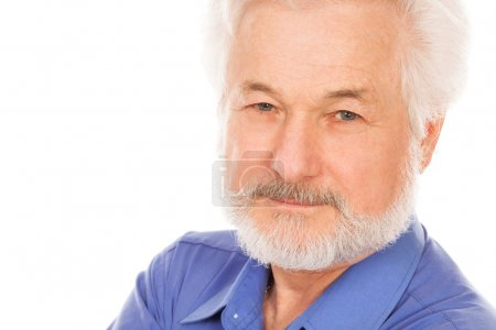 Portrait of handsome elderly man