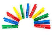 Detailní obrázek barevné clothespins