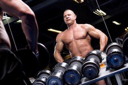 Muscular man in a gym