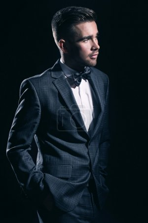 Handsome man in a suit