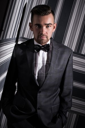 Handsome man in suit