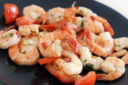 Heap of baked shrimps