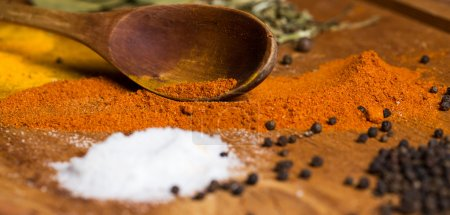 Photo for Heap of various spices on the table - Royalty Free Image