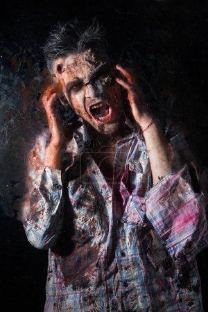 Creepy scary zombie