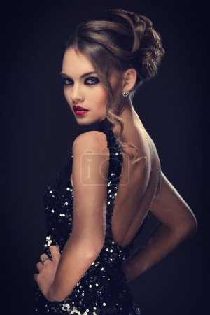 Photo for Gorgeous elegant woman with beautiful face - Royalty Free Image