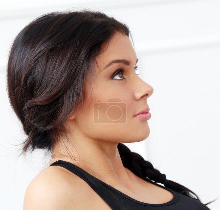 Profile of attractive woman