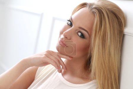 Cute blonde woman