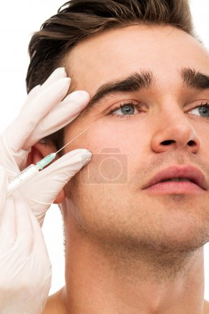 Plastic surgery with handsome man