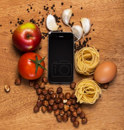 Mobile phone and food