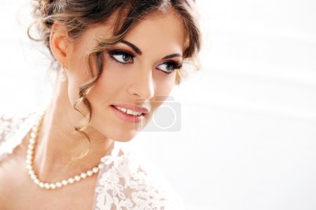 Bride with beautiful face