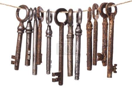 Old, rustic keys