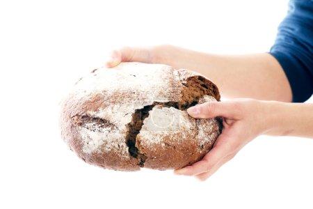 Man holding delicious bread