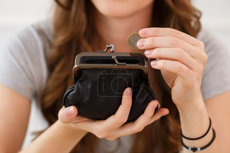 Woman with wallet
