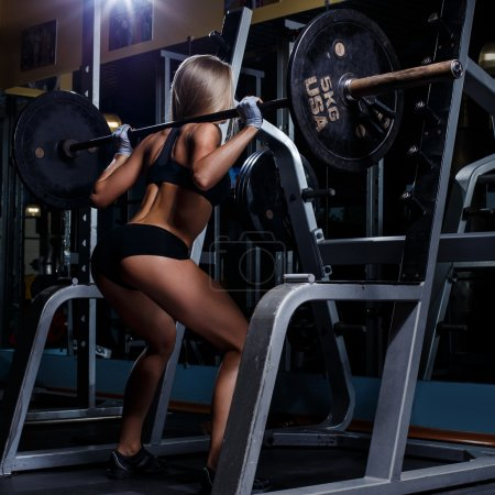 Attractive woman in gym