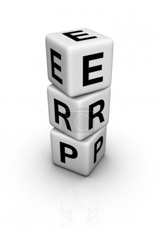 Photo for Enterprise Resource Planning System (ERP) symbol - Royalty Free Image