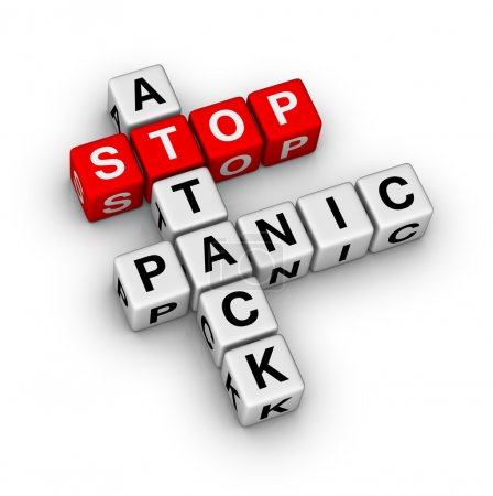 Photo for Stop panic attack crossword puzzle - Royalty Free Image