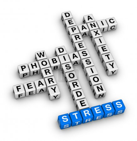 Photo for Mental health crossword puzzle - Royalty Free Image