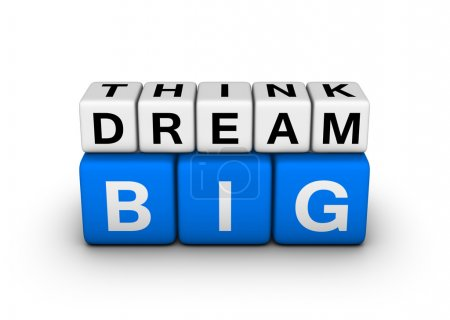 Photo for Big think big dream symbol - Royalty Free Image