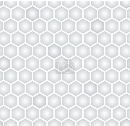 Illustration for Light gray hexagonal seamless pattern - Royalty Free Image