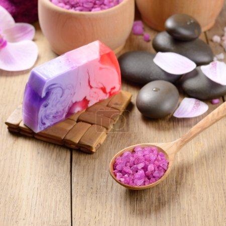 Spa lavender salt set