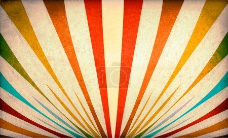 Photo pour Rayons de soleil multicolores fond grunge. Une affiche vintage . - image libre de droit
