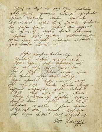 Photo for Old letter with vintage handwriting. Grunge background - Royalty Free Image