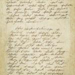 Old letter with vintage handwriting. Grunge backgr...