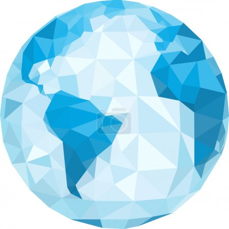 Illustration for Polygonal globe. Vector illustration - Royalty Free Image