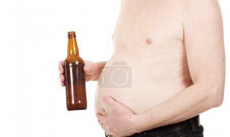 A man with a beer