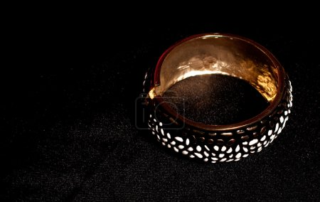 Black ring isolated on black background