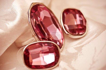 Three ruby rings